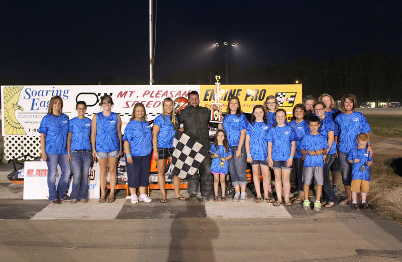 Modified Girls Feature Winner #87 David Mielke.<br /> <br /> (Chuck's Discount Foods)