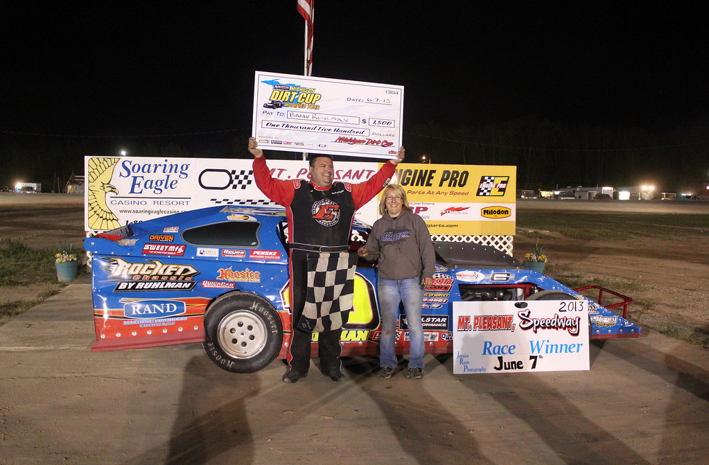 UMP DIRTcar Modified Feature Winner #49R Brian Ruhlman.<br /> <br /> Chuck's Discount Foods