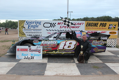 Howe Racing Enterprises Pro Stock Feature Winner #18 Donnie Rohn.