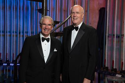 L. John Clark, W'63, WG'68 and award presenter, James S. Riepe, W'65, WG'67, Hon'10.