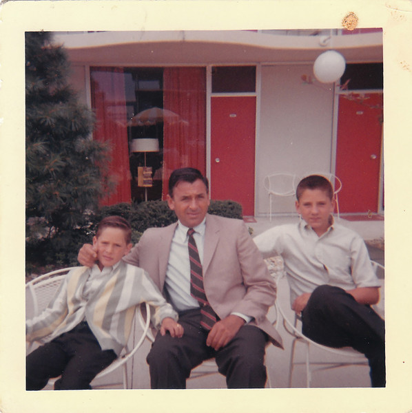 Tony, Dad and me.
