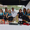 The Philadelphia Soul cheerleaders were happy to pose for pictures with anybody who asked,  Green Flag volunteers Rich and PJ were getting in on the action.<br /> <br /> ©Sam Feinstein