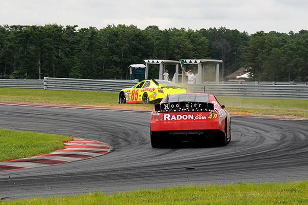 "Tim Cowen ""goes Rallycross"" at turn 5, followed by James Hylton.<br /> <br /> ©Nate Feinstein"