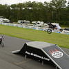 """""""Hell on Wheels"""" stunt riders gave a performance before the ARCA race.<br /> <br /> ©Sam Feinstein"""