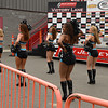 Philadelphia Soul arena football cheerleaders perform before the race.<br /> <br /> ©Sam Feinstein