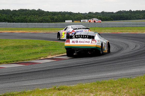 Race winner Andrew Ranger chases down Chase Elliott at turn 5.<br /> <br /> ©Nate Feinstein