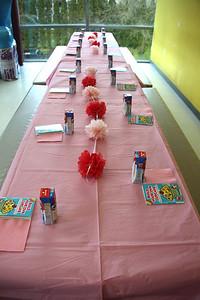 Birthday table set