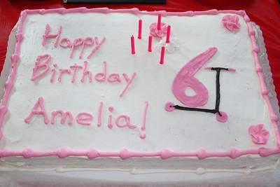 """Amelia """"6 riding a scooter"""" cake"""