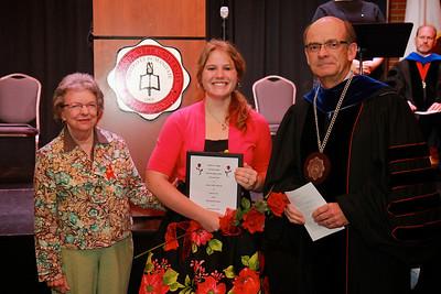 58th Academic Awards Day; April 30, 2013. Delta Kappa Gamma Society International Award