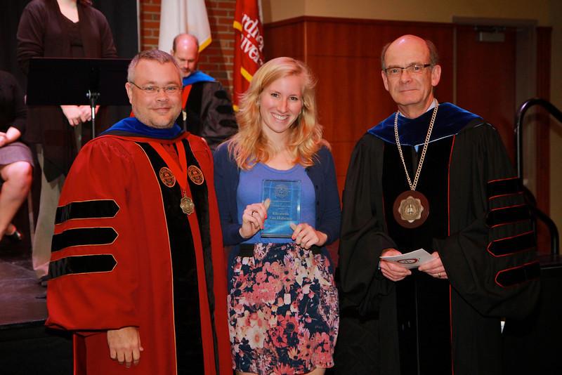 58th Academic Awards Day; April 30, 2013. J. Calvin Koonts Poetry Award