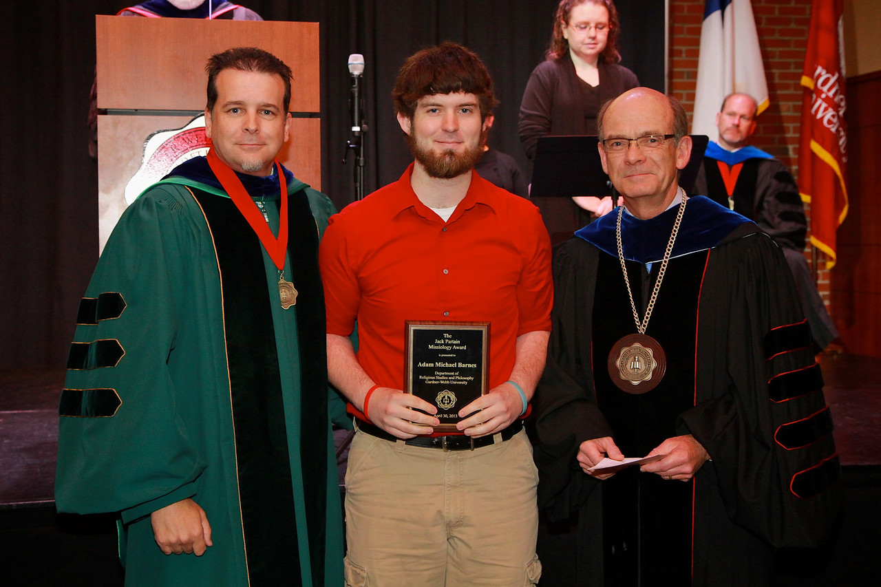 58th Academic Awards Day; April 30, 2013. Jack Partain Missiology Award