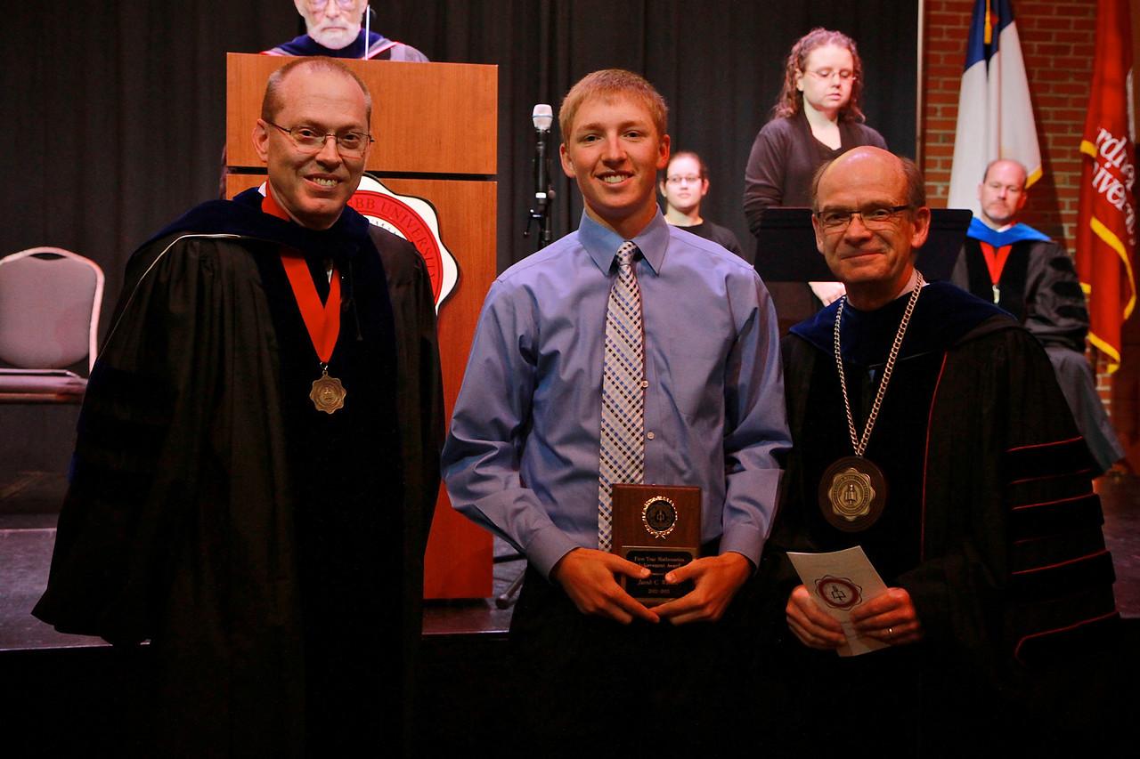 58th Academic Awards Day; April 30, 2013. First Year Mathematics Achievement Award