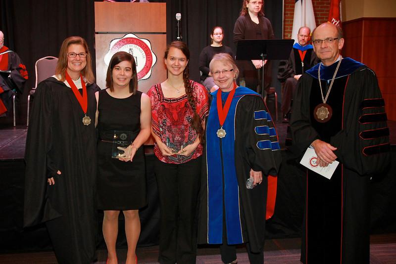 58th Academic Awards Day; April 30, 2013. Senior English Major Award