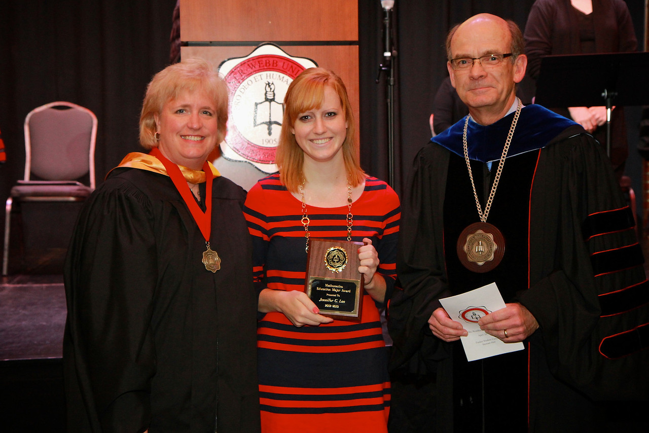 58th Academic Awards Day; April 30, 2013. Mathematics Education Major Award