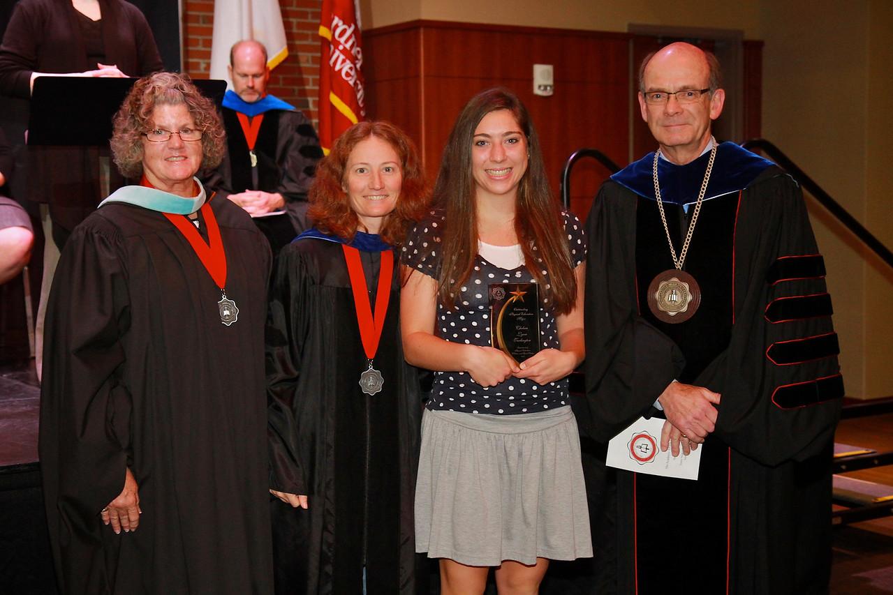 58th Academic Awards Day; April 30, 2013. Physical Education Major Award