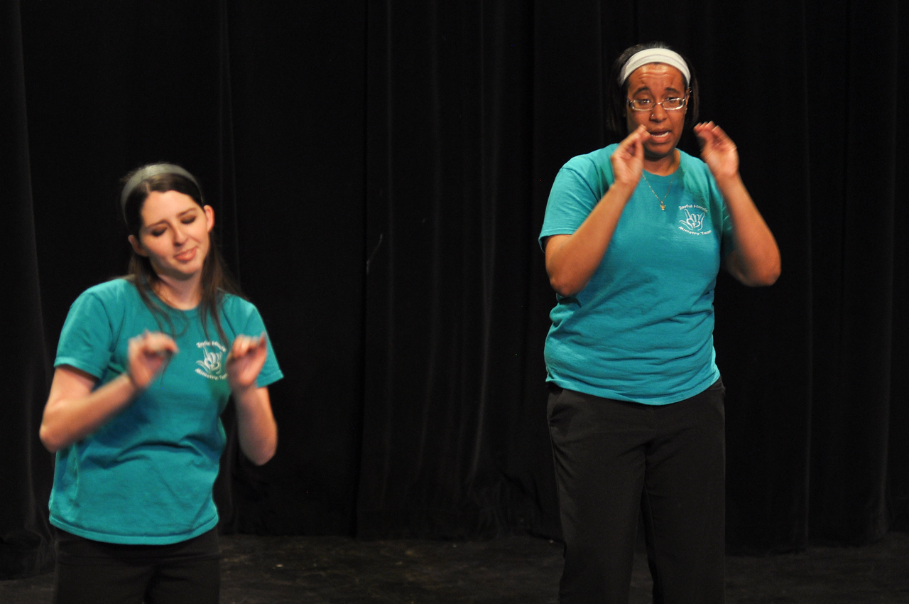 Joyful Hands perform at the Ariane Patterson Memorial Night in Dover Theater on April 5, 2013.