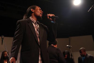 Gardner-Webb University's Gospel Choir performs the 2013 Gospel Explosion in Dover Theatre.