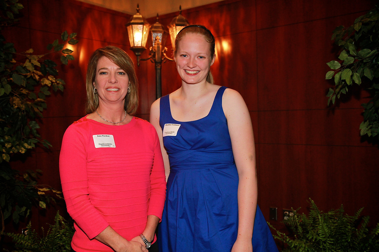 Scholarship Luncheon; Spring 2013. Lisa Tucker with Heather Feldman