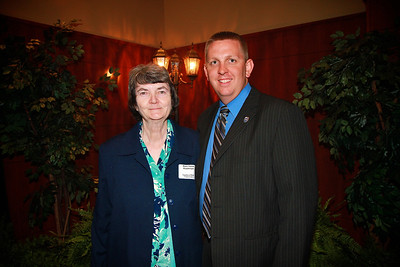Scholarship Luncheon; Spring 2013. Mary Emma Hambright with Spencer Clinton