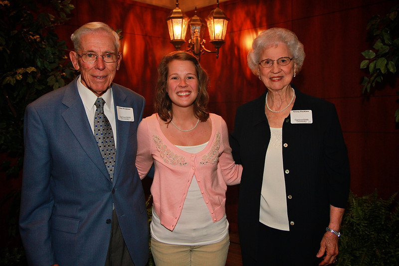 Scholarship Luncheon; Spring 2013. John and Gerry Perkins with Ruth H
