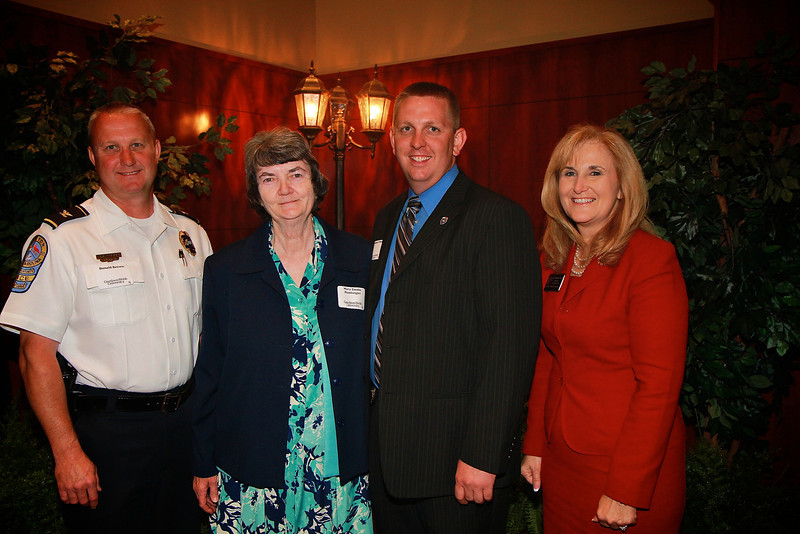 Scholarship Luncheon; Spring 2013. Mary Emma Hambright with Spencer Clinton joined by Donald Brown and Bobbie Cox