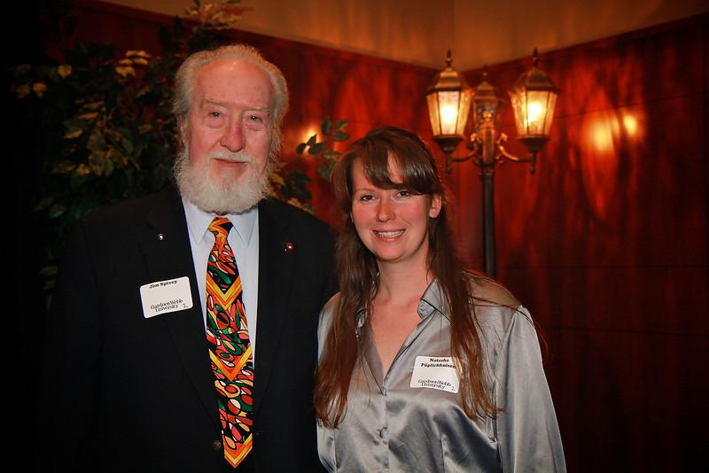 Scholarship Luncheon; Spring 2013. Jim Spivey with Natasha Püplichhuisen
