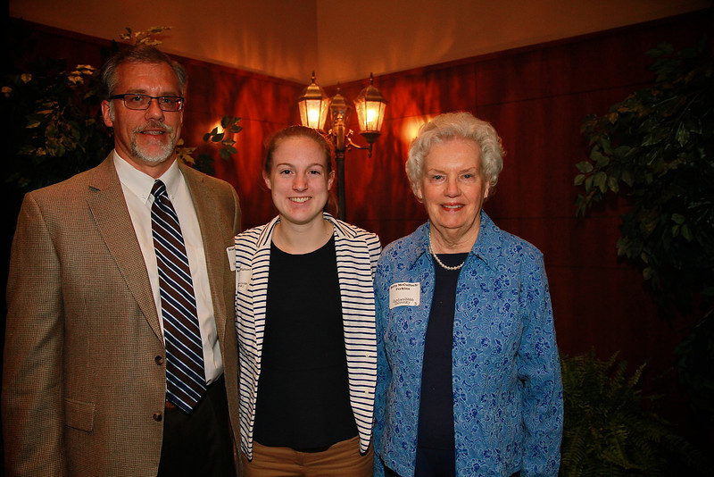 Scholarship Luncheon; Spring 2013. Brian McCulloch and Lou McCulloch Perkins with Katie Oliphant