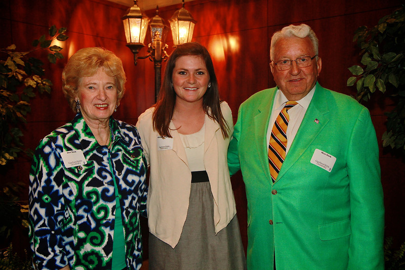 Scholarship Luncheon; Spring 2013. Dot and Max Sink with Mikaela Ingram