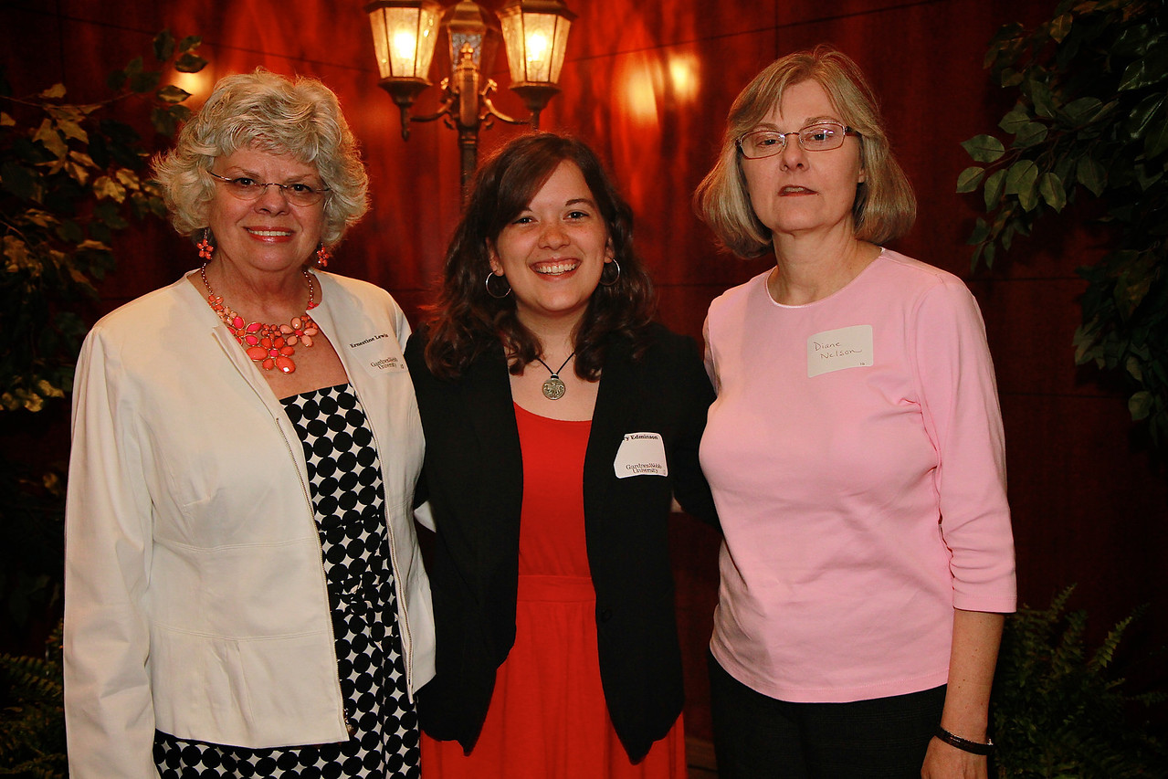 Scholarship Luncheon; Spring 2013. Ernestine Lewis and Diane Nelson with Mary Edminson