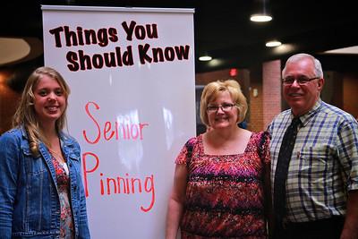 Senior Pinning; Spring 2013.