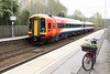24 April 2013 :: 158882 departing from Mottisfont & Dunbridge as 2R38 the 1056 from Salisbury to Romsey