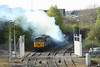 30 April 2013 :: Producing enough clag for a steam locomotive, 56303 pulls out of Didcot Power Station with 6Z92, loaded flyash to Calvert