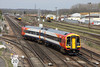24 April 2013 :: Approaching Eastleigh from Chandlers Ford is 158888 working 2S39, the 1407 Romsey to Salisbury