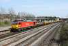 25 April 2013 :: 60059 at Millbrook in charge of 6V41, Eastleigh to Westbury engineers train