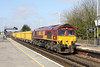 23 April 2013 :: 66034 at Basingstoke with 6M26 from Eastleigh to Stud Farm