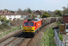 25 April 2013 :: 60092 on the branch to Chandlers Ford at Eastleigh working 7V16, empty stone boxes from Fareham to Westbury