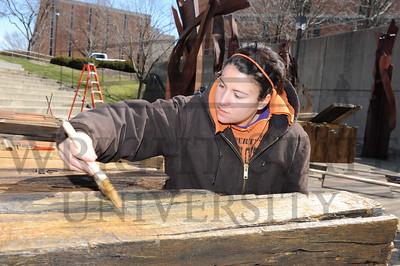 11186 Divisions Sculpture Restoration in the Ampitheatre 4-3-13