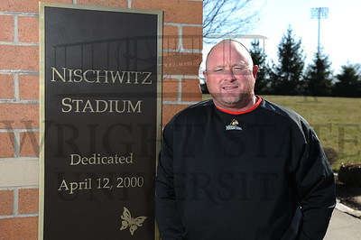 11187 Baseball Head Coach Rob Cooper at Nischwicz Stadium 4-3-13