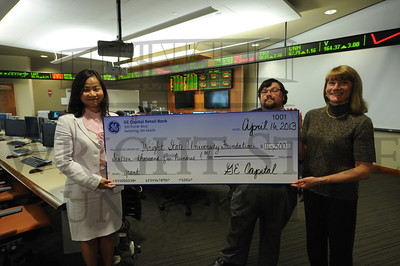 11302 GE Capitol check presentation to Center for Economic Education 4-16-13