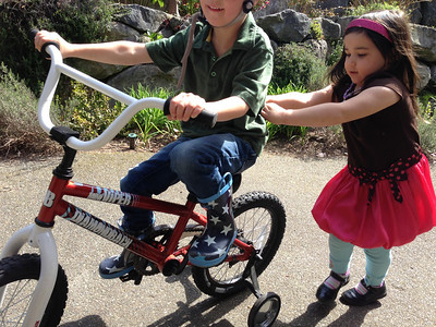 Connor gets a push from his friend, Ava