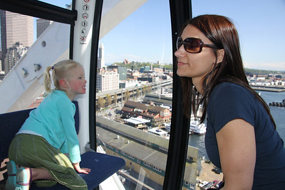A quick ride on the Great Wheel with Micki