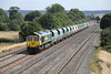 20 August 2013 :: 66585 passing Cholsey working the Tuesday only 6V87 from Neasden to Stoke Gifford