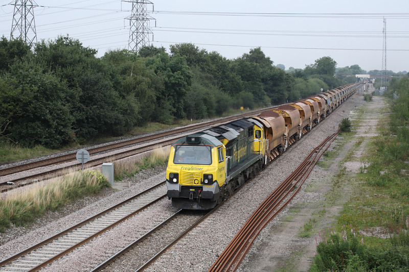 29 August 2013 :: 70003 at North Staffs Junction working 6U77 from Mountsorrel to Crewe