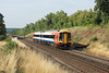 23 August 2013 :: South West Trains 158888 approaching Litchfield Tunnel with 2T28 the 0805 from Portsmouth Harbour to Basingstoke