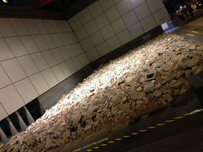 Interesting demolition art in the city