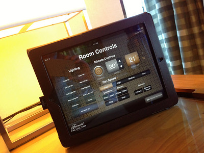 Everything controllable via the in-room iPad - lights, drapes, room service order, privacy setting for your room, temperature, etc.