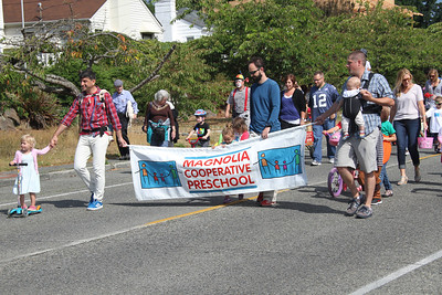 Magnolia Seafair Parade, the kids walked with the Co-op Preschool