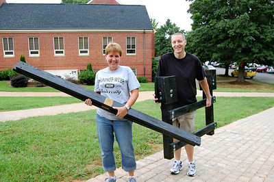 Parents moving in their student for Orientation 2013.