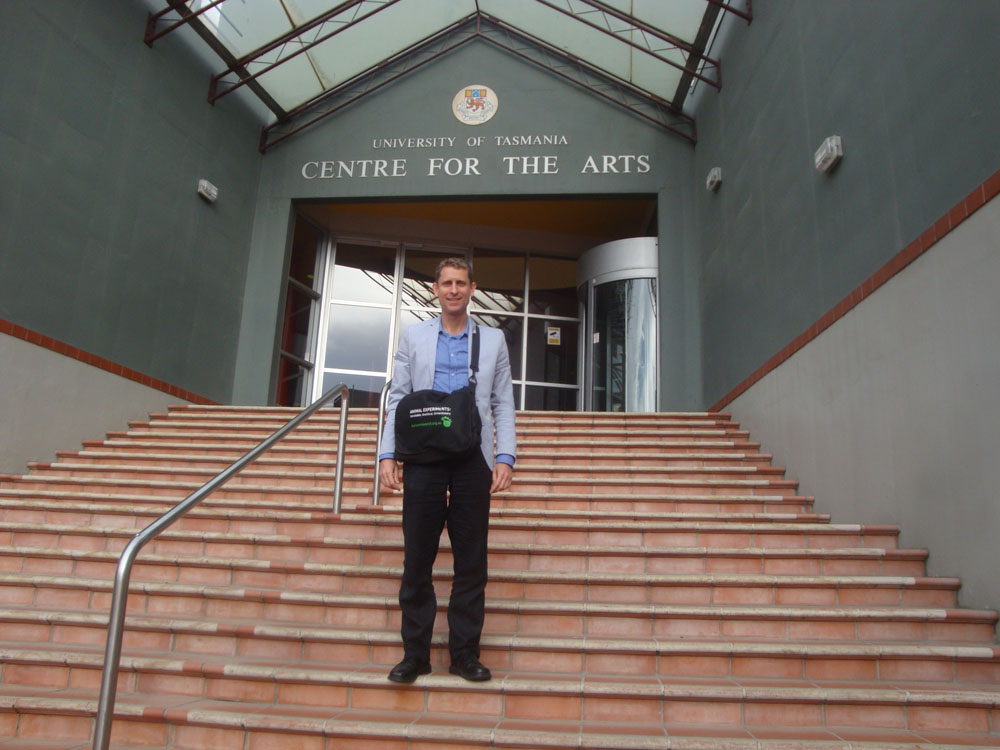 My one presentation was at the University of Tasmania