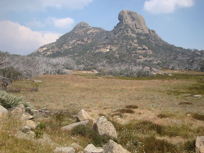 At the end of the high plateau is a wonderful rock tower called 'The Horn'.